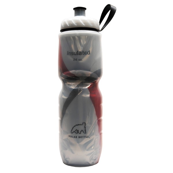 Polar Insulated Pattern Water Bottle 24 oz. (Red)