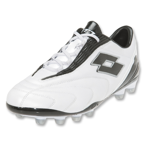 Lotto Fuerzapura L300 FG Soccer Shoes (Bright White/Black)