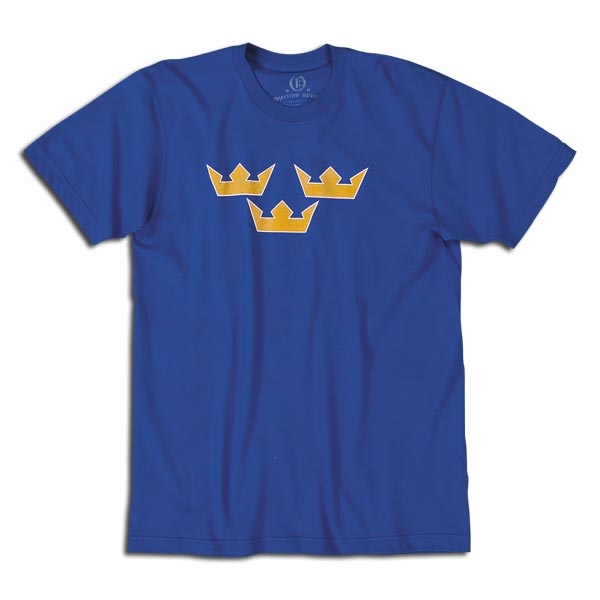 Sweden Three Crowns Soccer T-Shirt (Royal)