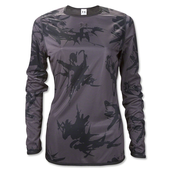 UA Women's Bio Print Reversible Training Top (Dk Grey)