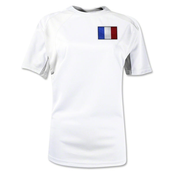 France Gambeta Women's Soccer Jersey (White)