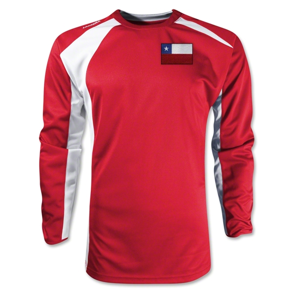 Chile Gambeta LS Soccer Jersey (Red)