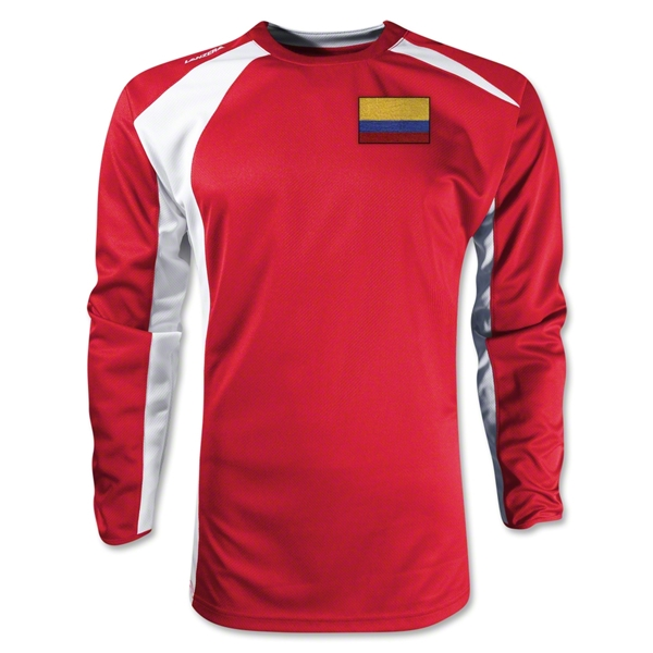 Colombia Gambeta LS Soccer Jersey (Red)