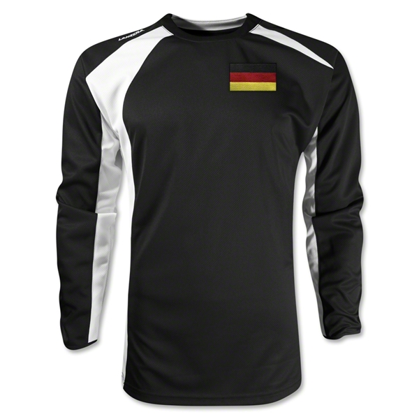 Germany Gambeta LS Soccer Jersey (Black)
