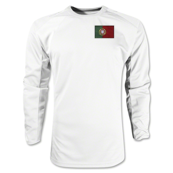 Portugal Gambeta LS Soccer Jersey (White)