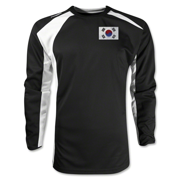 South Korea Gambeta LS Soccer Jersey (Black)