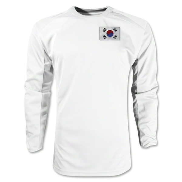 South Korea Gambeta LS Soccer Jersey (White)