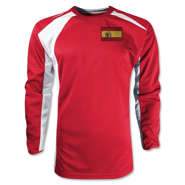 Spain Gambeta LS Soccer Jersey (Red)