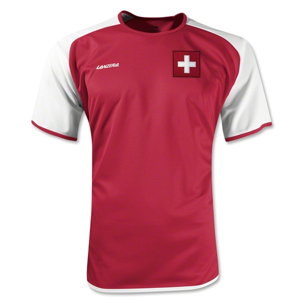 Switzerland Torino Soccer Jersey (Red)