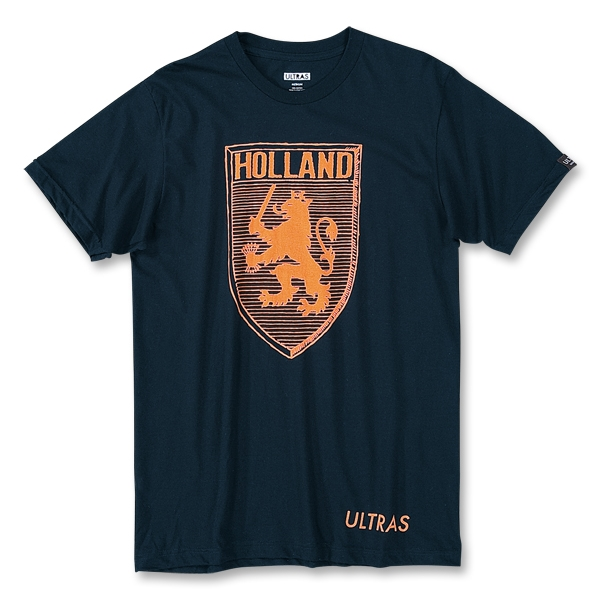 Objectivo Ultras Holland Lion Crest T-Shirt (Navy)