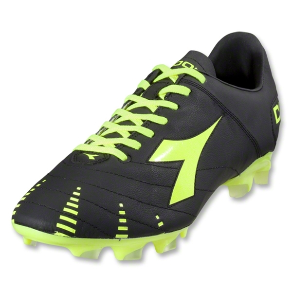 Diadora Evoluzione K BX 14 Soccer Shoes (Black/Yellow Fluo)