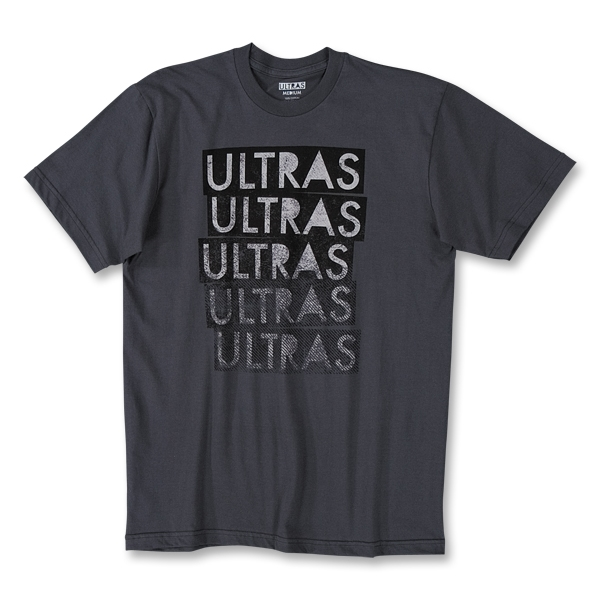 Objectivo Ultras Stacked Soccer Brand T-Shirt (Dk Grey)