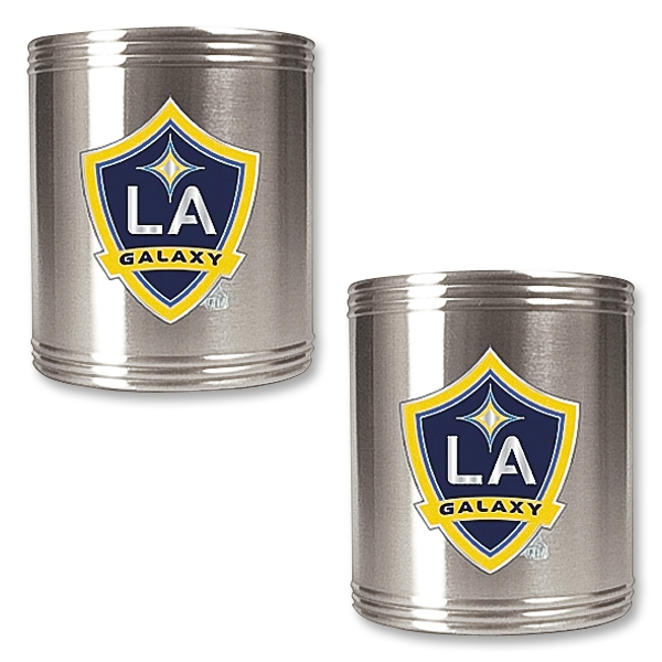 LA Galaxy 2 pc. Stainless Steel Can Holder Set