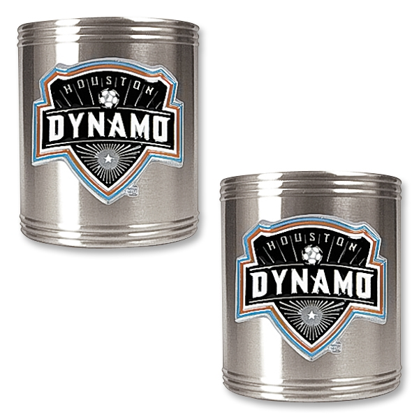Houston Dynamo 2 pc. Stainless Steel Can Holder Set