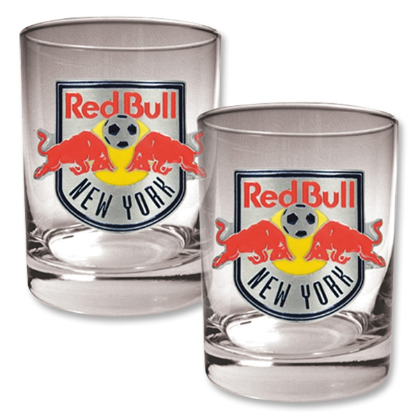 NY Red Bulls Two Piece Rocks Glass Set