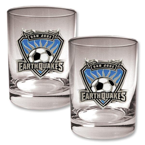 San Jose Earthquakes Two Piece Rocks Glass Set