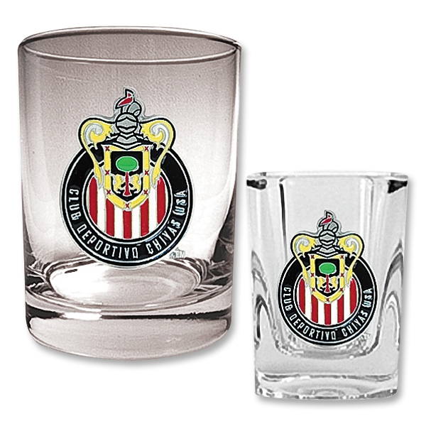 Chivas USA Rocks Glass and Square Shot Glass Set
