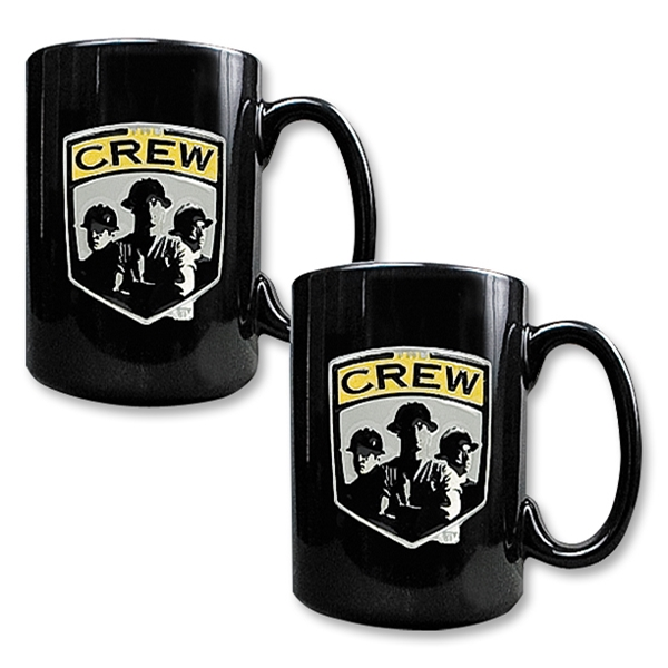 Columbus Crew 2 pc. Black Ceramic Mug Set