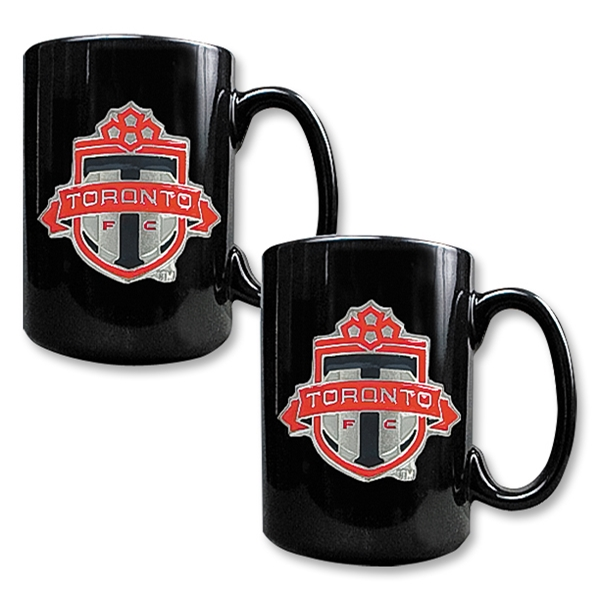 Toronto FC Two Piece Black Ceramic Mug Set