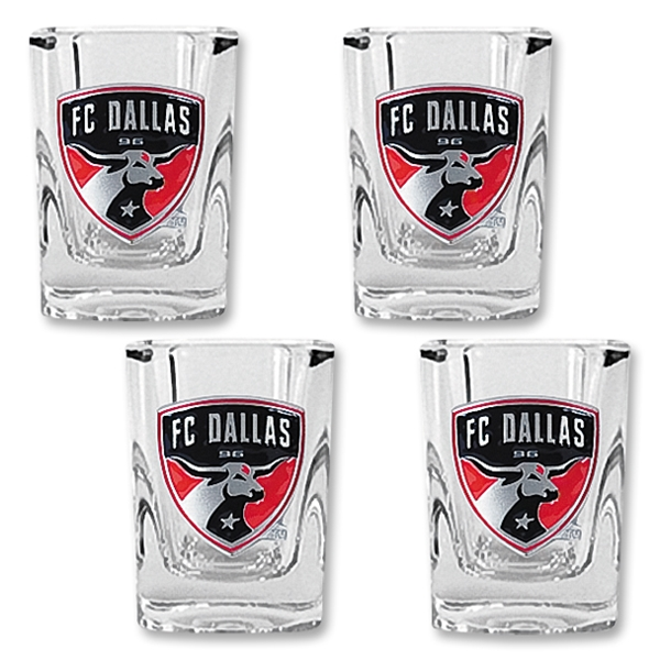 FC Dallas 4 pc. Square Shot Glass Set