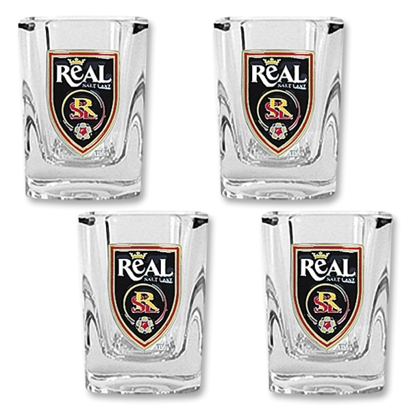 Real Salt Lake Four Piece Square Shot Glass Set
