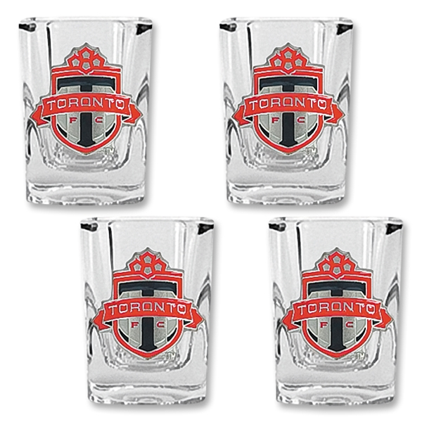 Toronto FC Four Piece Square Shot Glass Set