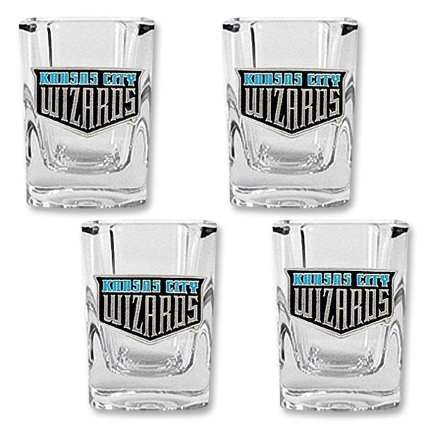 KC Wizards 4 pc. Square Shot Glass Set