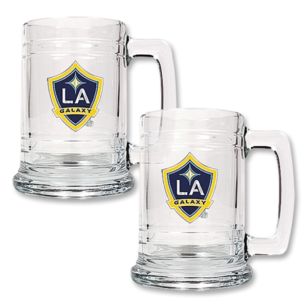 LA Galaxy 2 pc. 15 oz Glass Tankard Set