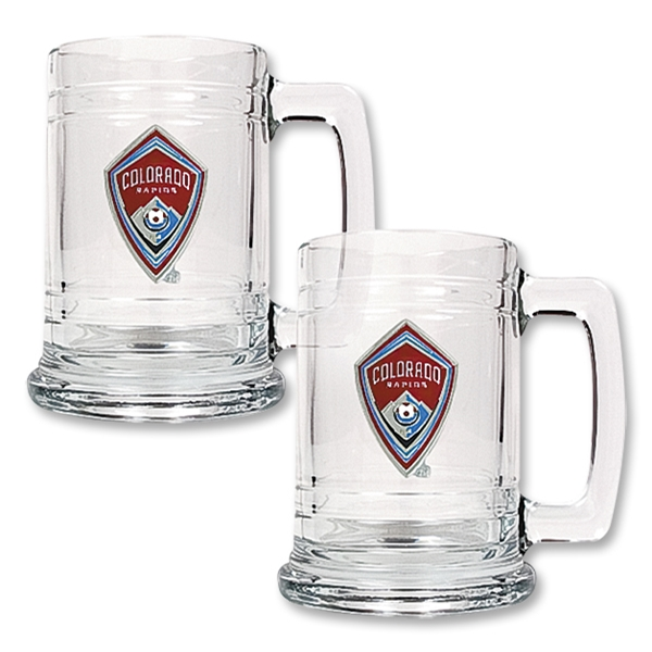 Colorado Rapids 2 pc 15 oz Glass Tankard Set