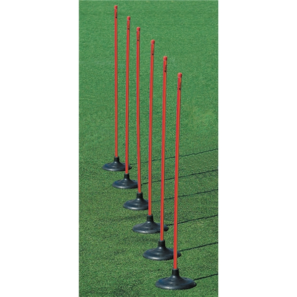 Kwik Goal 6-Pack Premier Coaching Sticks (Red)