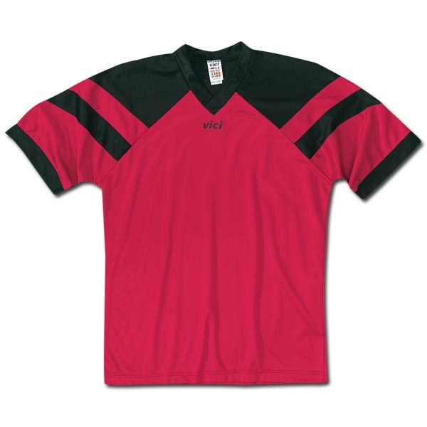 Vici Malta Soccer Jersey (Red/Blk)