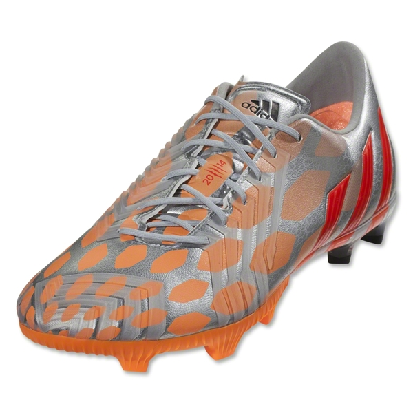 adidas Women's Predator Instinct FG (Metallic Silver/Infrared/Glow Orange)