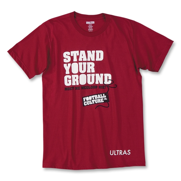 Stand Your Ground Football Culture US Soccer T-Shirt (Red)