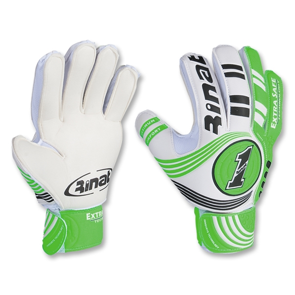Rinat Extra Safe Goalkeeper Gloves (White/Green)