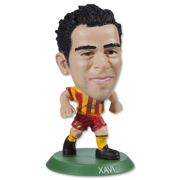 Barcelona Xavi Away Mini Figurine
