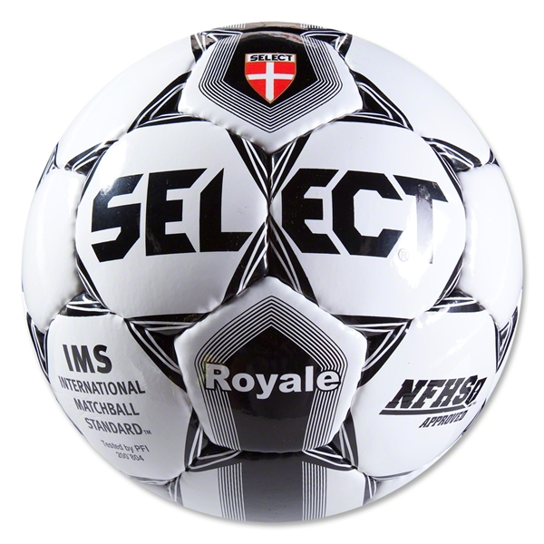 Select Royale NFHS Soccer Ball (White/Black)