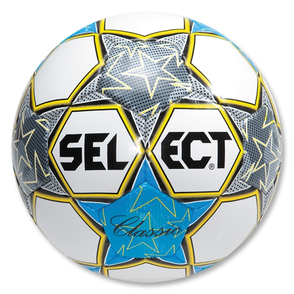 Select Classic Soccer Ball (White/Royal)