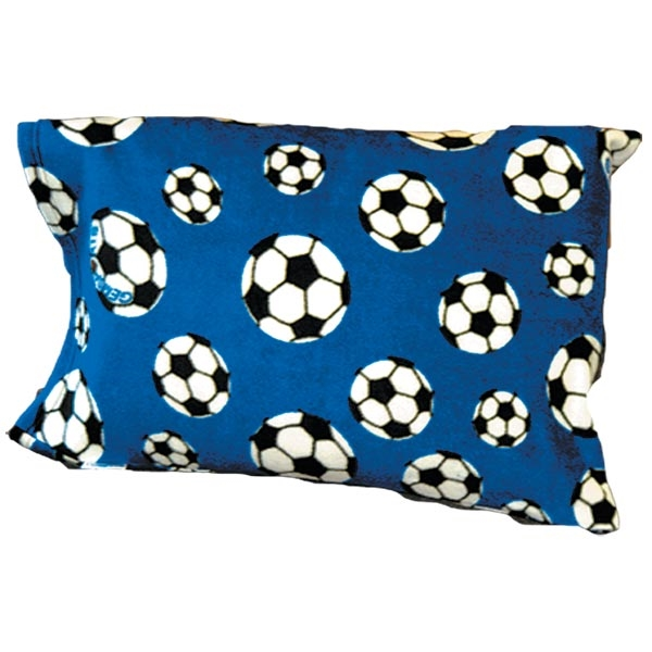 Soccer Ball Fleece Pillow Case (Royal)