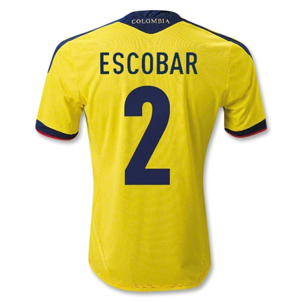 Colombia 11/13 ESCOBAR Home Soccer Jersey
