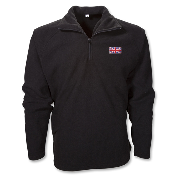 Great Britain 1/4 Zip Fleece Jacket (Black)