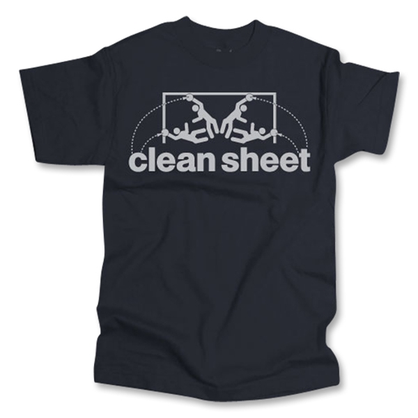 Who Are Ya Designs Clean Sheet T-Shirt (Black)