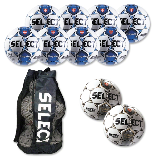 Select Royale Soccer Ball Kit (Wh/Ro)