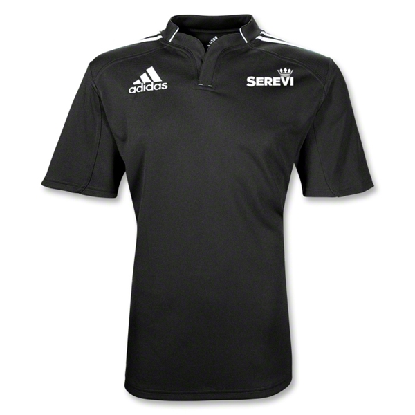 adidas Serevi Three Stripe Rugby Jersey (Black/White)