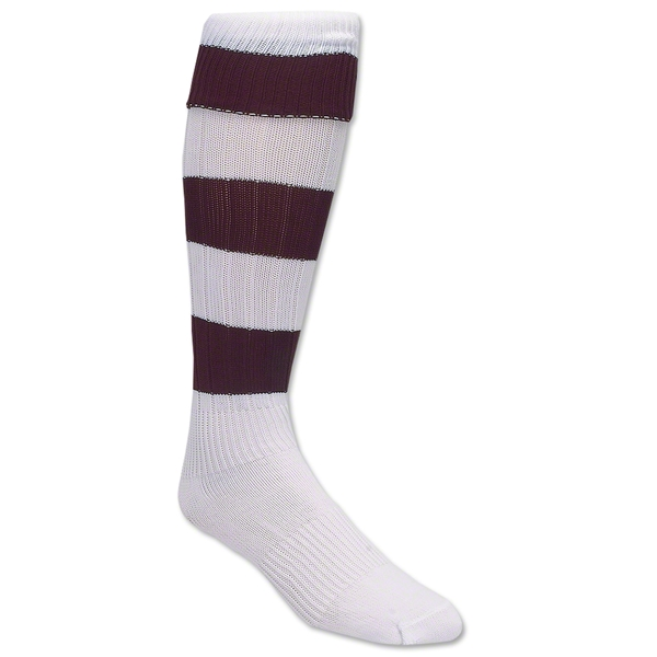 Bumble Bee Socks (Maroon/Wht)