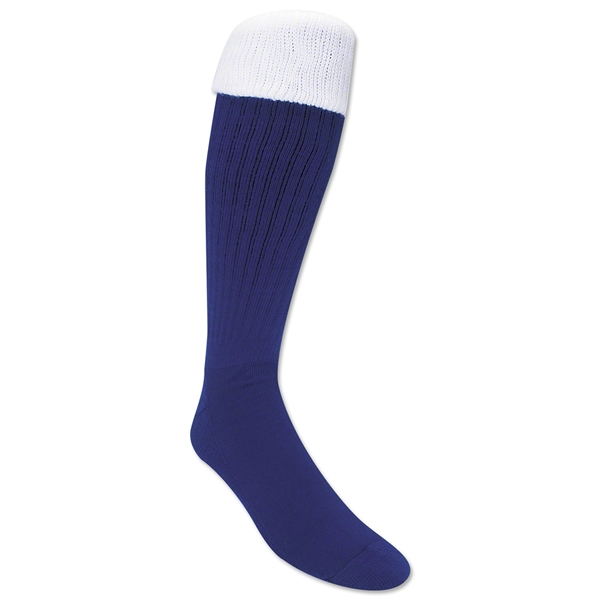 365 Turndown Rugby Socks (Royal/White)