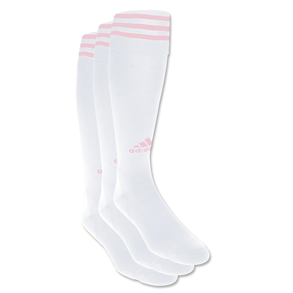 adidas Copa Zone Cushion Irreg 3 Pack (White/Pink)