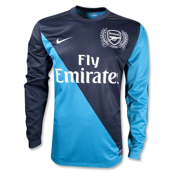 Arsenal 11/12 Away LS Soccer Jersey