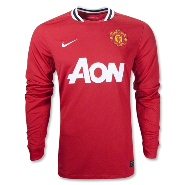 Manchester United 11/12 Home Long Sleeve Soccer Jersey