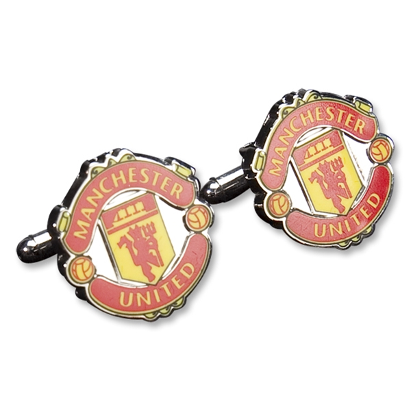 Manchester United Color Crest Cufflinks