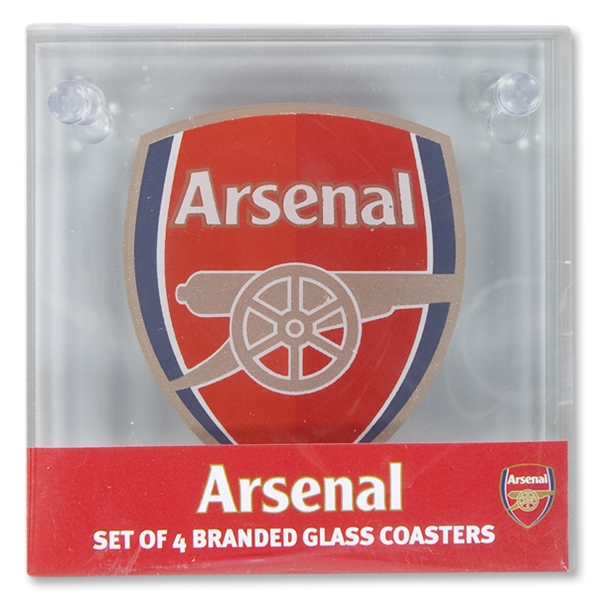 Arsenal Glass Crest Coasters